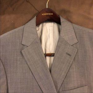 Hugo Boss Grey Sharkskin Slim Fit Blazer 42S Short